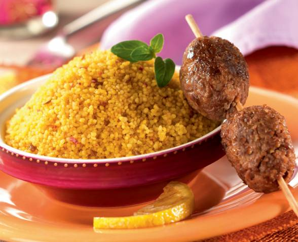 Lamb kebab lemon couscous TIPIAK