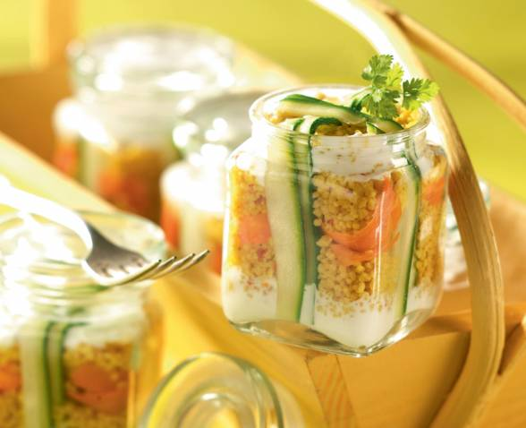 Spicy couscous terrine